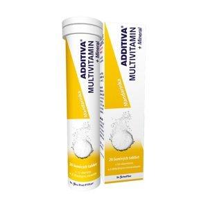 Additiva Multivitamin + Mineral mandarinka 20 šumivých tablet