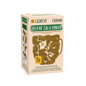 Leros Čajovna Zelený čaj a Ginkgo porcovaný čaj 20x2 g