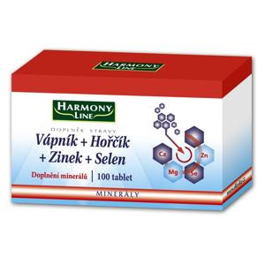 Harmony Line Vápník+Hořčík+Zinek+Selen 100 tablet