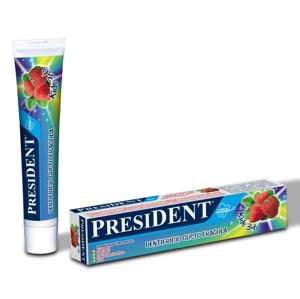 President Zubní pasta pro děti jahoda 50 ml 3–6 let