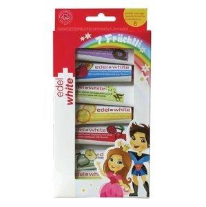 Edel+White Ovocné zubní pasty pro děti 7x9,3 ml