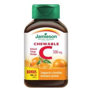 Jamieson Vitamin C 500 mg pomeranč 120 cucacích tablet