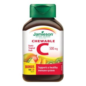 Jamieson Vitamín C 500 mg tropické ovoce 120 cucacích tablet