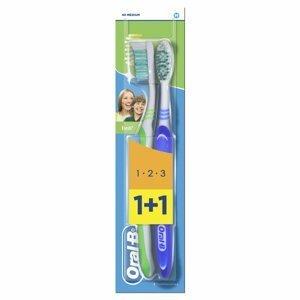 Oral-B Fresh 1-2-3 Medium zubní kartáček 2 ks