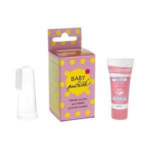 Baby Prsťáček průhledný zubní kartáček 1 ks