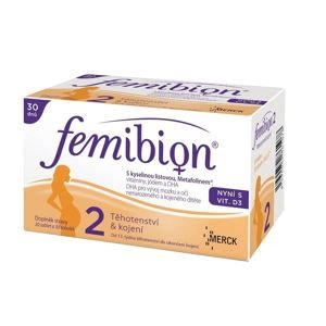 Femibion 2 s vitaminem D3 30 tablet + 30 tobolek