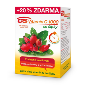 GS Vitamin C 1000 se šípky 100+20 tablet