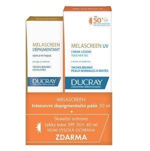Ducray Melascreen Intenzivní depigmentační péče 30 ml + Lehký krém SPF50+ 40 ml
