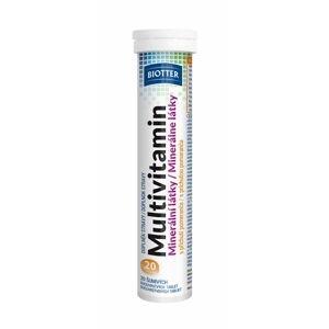 Biotter Multivitamín minerální látky příchuť pomeranč 20 šumivých tablet