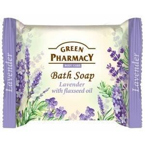 Green Pharmacy Levandule s olejem ze lněných semínek toaletní mýdlo 100 g