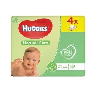 Huggies Natural Care vlhčené ubrousky 4x56 ks