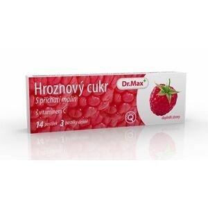 Dr.Max Hroznový cukr s vitaminem C malina 14 pastilek