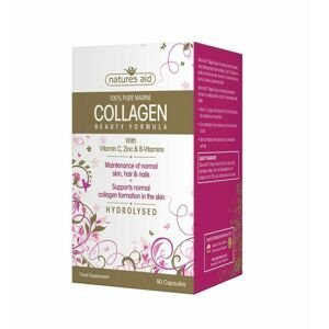 Natures Aid Kolagen 500 mg typ II 100% mořského původu 90 kapslí