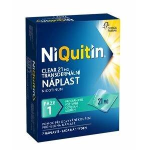 Niquitin Clear 21 mg transdermální náplast 7 ks