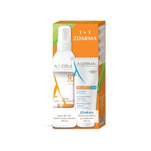 A-Derma Protect SPF50+ sprej + Reparační mléko po opalování 200+100 ml