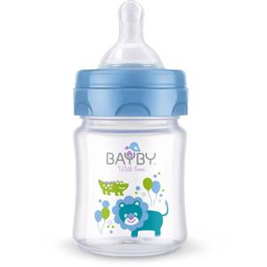 BAYBY Kojenecká láhev 0m+ 120 ml 1 ks modrá