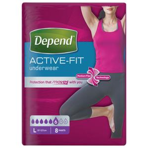 Depend Active-Fit pro ženy vel. L inkontinenční kalhotky 8 ks