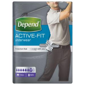 Depend Active-Fit pro muže vel. M inkontinenční kalhotky 8 ks