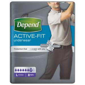 Depend Active-Fit pro muže vel. L inkontinenční kalhotky 8 ks