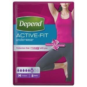 Depend Active-Fit pro ženy vel. M inkontinenční kalhotky 8 ks