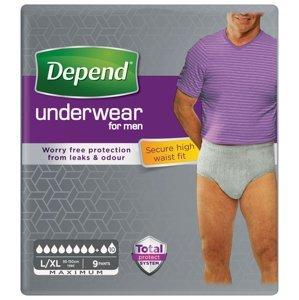 Depend Maximum pro muže L/XL natahovací kalhotky 9 ks