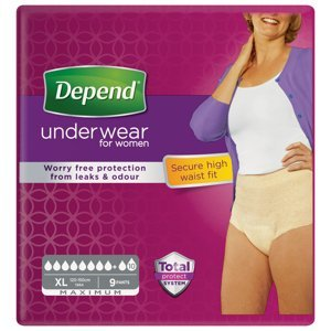 Depend Maximum pro ženy XL natahovací kalhotky 9 ks