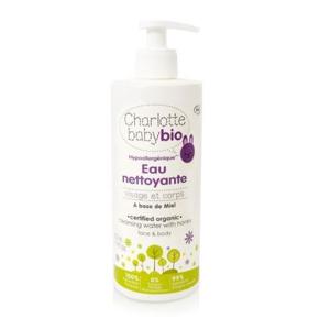 Charlotte BIO Baby Hypoalergenní čistící voda s medem 500 ml