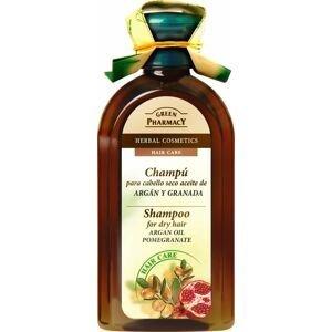 Green Pharmacy Arganový olej a granátové jablko šampon pro suché vlasy 350 ml