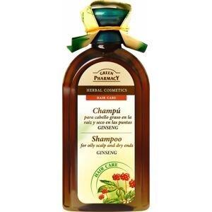 Green Pharmacy Ženšen šampon pro mastné a suché vlasy 350 ml