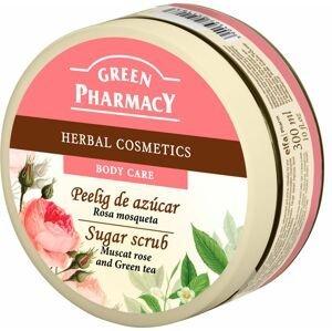Green Pharmacy Muškátová růže a Zelený čaj cukrový peeling 300 ml