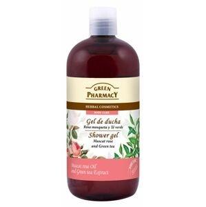 Green Pharmacy Muškátová růže a zelený čaj sprchový gel 500 ml