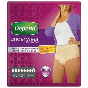 Depend Super pro ženy XL natahovací kalhotky 9 ks