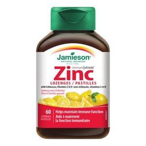 Jamieson Zinek s vitamíny C a D3 s příchutí citronu a máty 60 pastilek