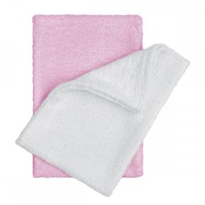T-tomi Koupací žínky - rukavice 2 ks bílá + růžová