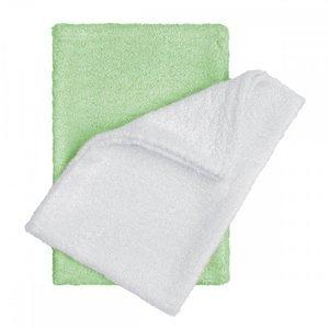 T-tomi Koupací žínky - rukavice 2 ks bílá + zelená