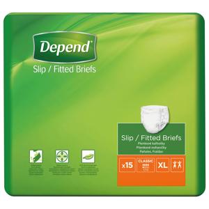 Depend Slip Classic XL inkontinenční kalhotky 15 ks