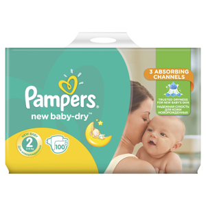 Pampers New Baby vel. 2 4-8 kg dětské pleny Giant Pack 100 ks