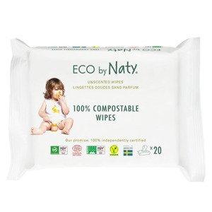 ECO by Naty Vlhčené ubrousky bez vůně pro citlivou pokožku 20 ks