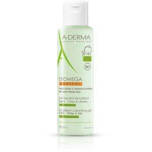 A-Derma Exomega Control zvláčňující mycí gel 2v1 pro suchou kůži se sklonem k atopii 500 ml