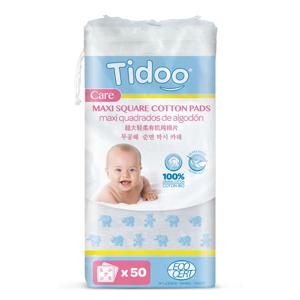 Tidoo Care BIO Ultra jemné bavlněné čisticí tampony 50 ks