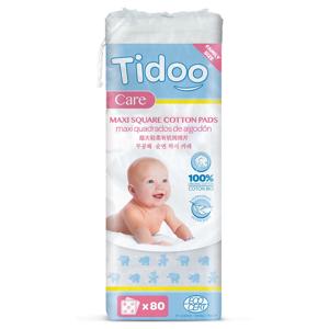 Tidoo Care BIO Ultra jemné bavlněné čisticí tampony 80 ks