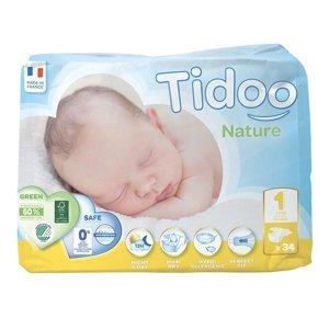 Tidoo 1 Newborn 2-5 kg dětské plenky 34 ks