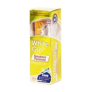 White Glo Bělicí zubní pasta Smokers pro kuřáky 150 g + kartáček na zuby a mezizubní