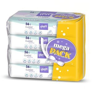 Bella Čistící ubrousky Classic Sensitive mega pack 4x56 ks