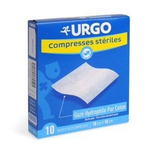 Urgo Sterilní komprese bavlněné 10 x 10 cm sáčky 10x2 ks