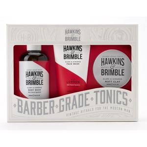 Hawkins & Brimble Pánský set mycí gel na obličej + sprchový gel + pomáda