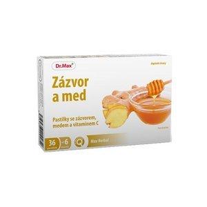 Dr.Max Zázvor a med pastilky 36 ks