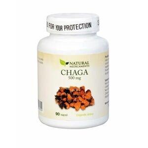 Natural Medicaments Chaga 500 mg 90 kapslí