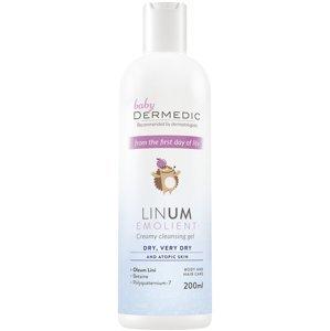 Dermedic Baby Linum Emolient krémový sprchový gel 200 ml