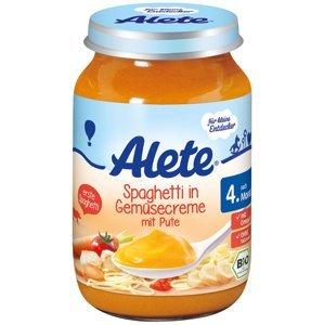 Alete BIO Příkrm špagety + zelenina + krůta 4m+ 190 g